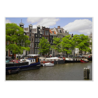 Amsterdam Canal Houses Photo Poster