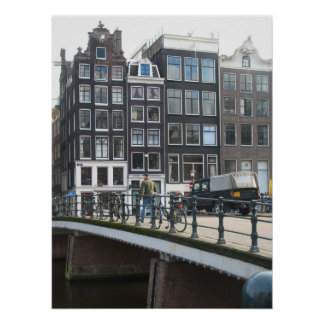Amsterdam Canal Houses Photo Poster Print