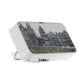 Amsterdam Canal Houses Portable Travel Speakers