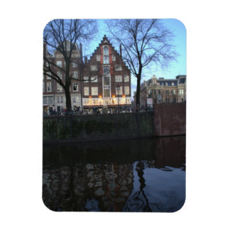 Amsterdam Canal Houses Rectangle Magnet
