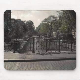 Amsterdam Canal Vintage Mouse Pad