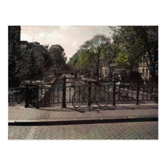 Amsterdam Canal Vintage Postcard