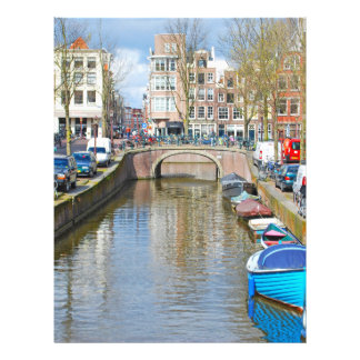 Amsterdam Canal with boats Flyer