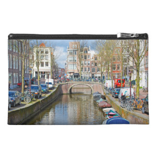 Amsterdam Canal with boats Travel Accessory Bag