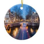 amsterdam, night, canal, skyline, cityscape,