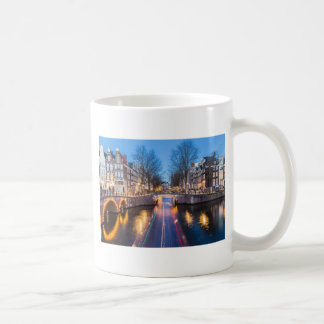 Amsterdam Canals at Night Coffee Mug