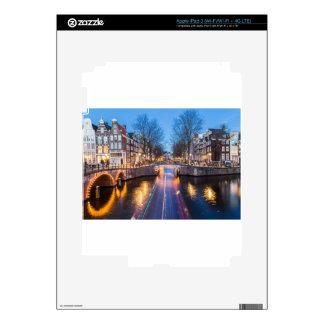 Amsterdam Canals at Night iPad 3 Skin