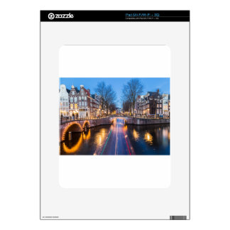 Amsterdam Canals at Night Skins For The iPad