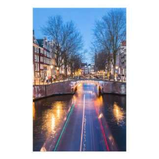 Amsterdam Canals at Night Stationery