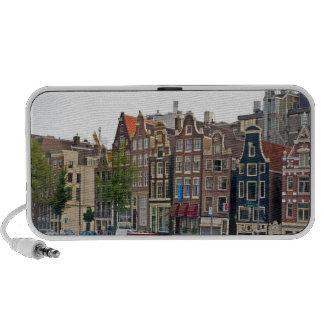 Amsterdam casas en el canal iPod altavoz
