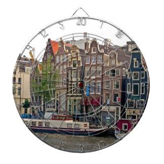 Amsterdam casas en el canal tablero de dardos