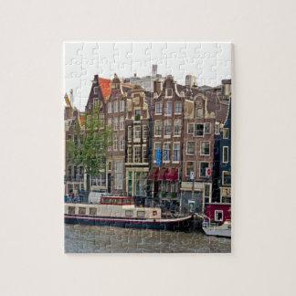 Amsterdam, casas en el canal puzzle