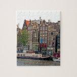 Amsterdam, casas en el canal rompecabeza