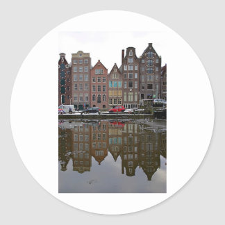 Amsterdam city classic round sticker