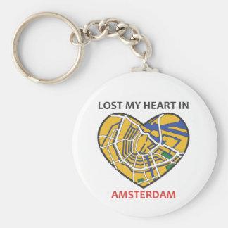 AMSTERDAM-City Heart Keychain