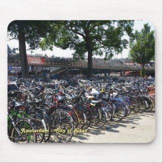 Amsterdam - City of Bikes Mousepad