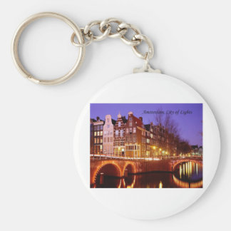 Amsterdam, City of Lights (by St.K.) Key Chain