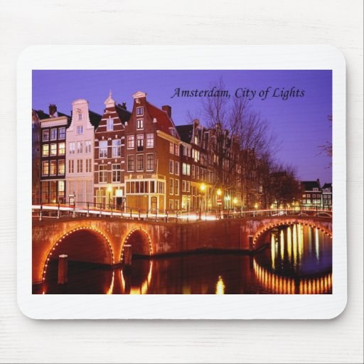 Amsterdam, City of Lights (by St.K.) Mouse Pad