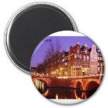 Amsterdam--City of lights [kan.k]. 2 Inch Round Magnet