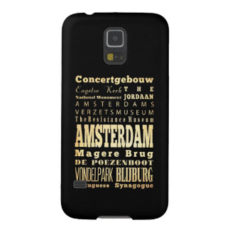 Amsterdam City of Olanda Typography Art Case For Galaxy S5