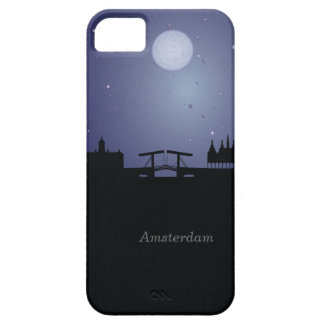 Amsterdam  CityScape Night Silhouette iPhone 5 iPhone 5 Cover