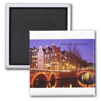 Amsterdam, ciudad de luces (por St.K.) Imán Cuadrado
