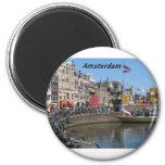 Amsterdam - ciudad [kan.k]. imán para frigorifico