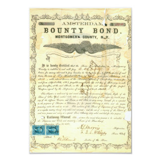 Amsterdam Civil War Slavery Bounty Bond Card