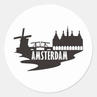 Amsterdam Classic Round Sticker