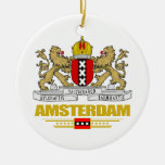 Amsterdam COA Double-Sided Ceramic Round Christmas Ornament