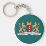 Amsterdam coat of arms basic round button keychain