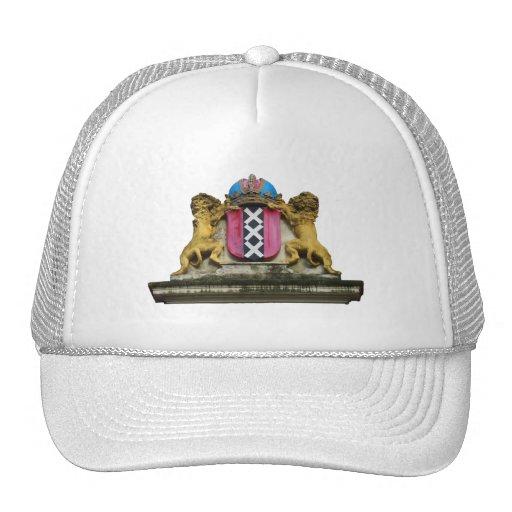 Amsterdam Coat of Arms Cap Mesh Hats