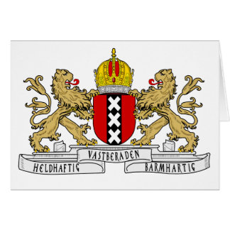 Amsterdam Coat of Arms Card