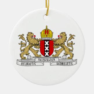 Amsterdam Coat of Arms Ceramic Ornament