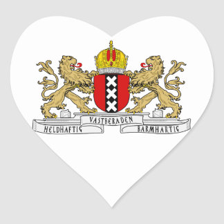 Amsterdam Coat of Arms Heart Sticker