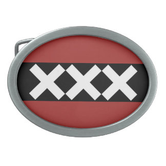 Amsterdam Coat of Arms pattern Oval Belt Buckles