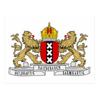 Amsterdam Coat of Arms Postcard