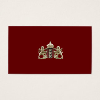 Amsterdam Coat of Arms Small Business Cards