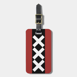 Amsterdam Coat of Arms symbol. Bag Tag