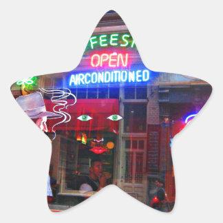 Amsterdam Coffee Shop Star Sticker