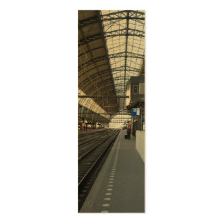 Amsterdam CS Central Train Station Photo Bookmark Business Card Template