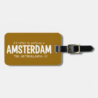 AMSTERDAM custom luggage tag