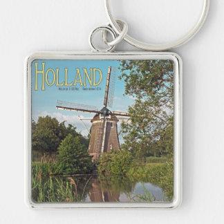 Amsterdam - De 1100 Roe Windmill Keychain
