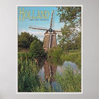 Amsterdam - De 1100 Roe Windmill Print