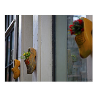 Amsterdam - estorbos de madera tarjeta postal