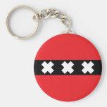 Amsterdam Flag Key Chains