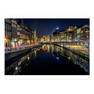 Amsterdam floating flower market Postcard