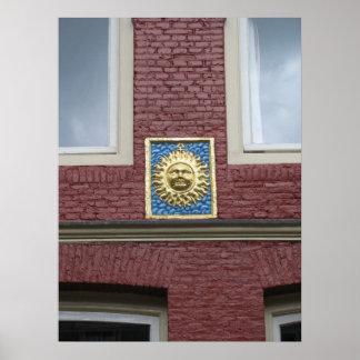 """Amsterdam Gable Stone """"Zon"""" (""""Sun"""") Poster"""