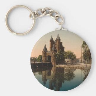 Amsterdam Gate, Haarlem, Netherlands Basic Round Button Keychain
