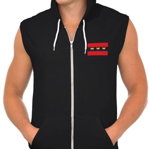 Amsterdam Gay Pride Rainbow X Black Hooded Sweatshirts